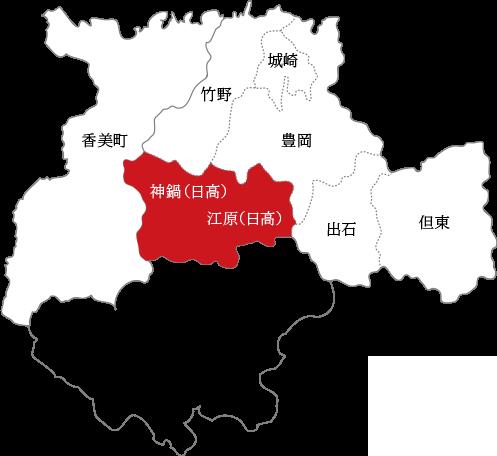江原の地図
