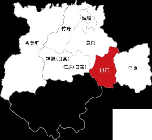 出石の地図