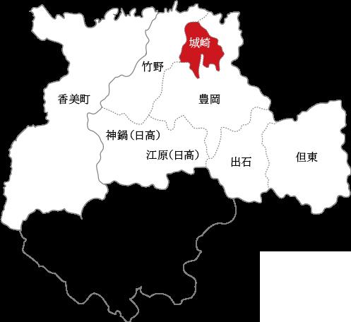 城崎の地図