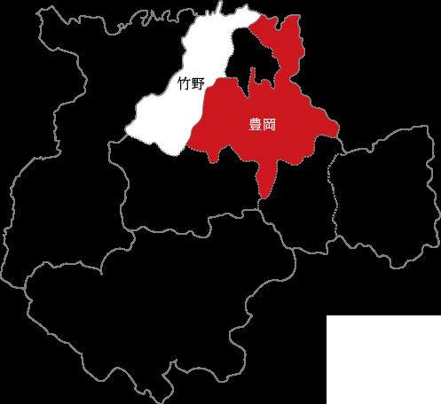 豊岡の地図